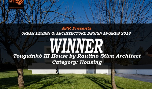 "Raulino Silva wins the 1st Prize of o 1º Prémio no ""Urban Design e Architecture Design Awards 2018 