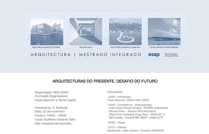Conference  ARQUITECTURES OF THE PRESENT, CHALLENGES OF THE FUTURE